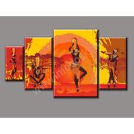 """Четырехмодульная картина на подрамнике """"Африканские девушки"""", фото 1"""