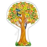 Плакат-дерево ЯБЛОНЯ ОСЕННЯЯ С ЯБЛОКАМИ Ф-10685 ВЫРУБКА, фото 1