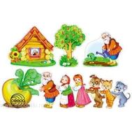 Комплект мини-плакатов ГЕРОИ СКАЗКИ РЕПКА 10шт.КФМ-10655, фото 1