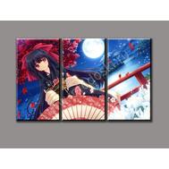 """Трехмодульная картина """"Японская девушка"""", фото 1"""