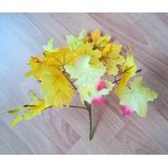 Букет из листьев желтый, 35см, фото 1
