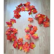 Гирлянда из осенних листьев красн.-желт., 2,2м, фото 1