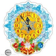 Мини-плакат НОВОГОДНИЕ ЧАСЫ ФМ-10009 ВЫРУБКА, фото 1