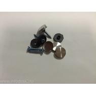 Декоративный колпачок AB07 16мм Satin (стальной) 1шт., фото 1