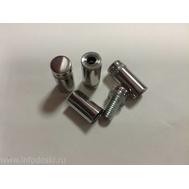 Держатель дистанционный YD-648 12*25мм Polish (серебро) 1шт., фото 1
