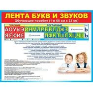 Обучающее пособие ЛЕНТА БУКВ И ЗВУКОВ 64.802, фото 1