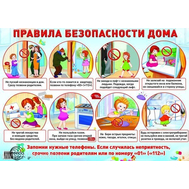 Плакат А2 ПРАВИЛА БЕЗОПАСНОСТИ ДОМА 4235 Сфера, фото 1