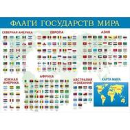 Плакат А2 ФЛАГИ ГОСУДАРСТВ МИРА 084.778, фото 1