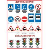 Плакат А2 ДОРОЖНЫЕ ЗНАКИ 0-02-307, фото 1