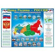 Плакат А2 НАША РОДИНА-РОССИЯ! 64.502, фото 1