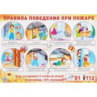 Плакат А2 ПРАВИЛА ПОВЕДЕНИЯ ПРИ ПОЖАРЕ (ТЦ СФЕРА), фото 1