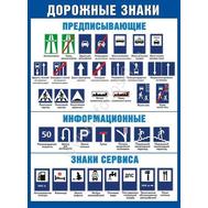 Плакат А2 ДОРОЖНЫЕ ЗНАКИ 084.822, фото 1