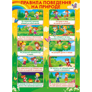 Плакат А2 ПРАВИЛА ПОВЕДЕНИЯ НА ПРИРОДЕ 64.539, фото 1