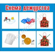 """Стенд для детского сада """"СХЕМА ДЕЖУРСТВА"""", фото 1"""