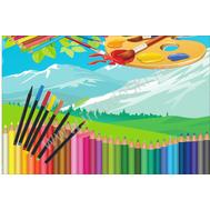 Магнитный стенд для рисунков в детском саду (карандаши), фото 1