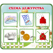 "Обучающий стенд ""СХЕМА ДЕЖУРСТВА"", фото 1"