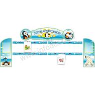 Комплект стендов для детских рисунков (пингвинята), фото 1