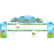 Комплект стендов для детских рисунков (тюльпаны), фото 1
