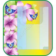 Стенд для рисунков с объемным карманом А4 (фиол. цветы), фото 1