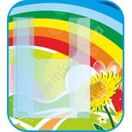 Стенд для рисунков с объемным карманом А4 (радуга), фото 1