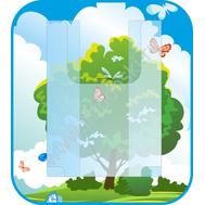 Стенд для рисунков с объемным карманом А4 (дерево), фото 1