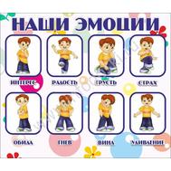 """Стенд для детского сада """"НАШИ ЭМОЦИИ"""" (мальчики), фото 1"""