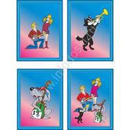 Комплект из 4-х постеров  в рамке (21*30см), фото 1