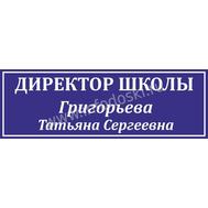 Табличка для школьного кабинета ДИРЕКТОР ШКОЛЫ в синем цвете, фото 1