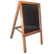 Меловой деревянный штендер (односторонний), фото 1