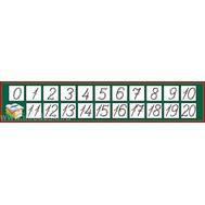 Лента цифр (темно-зел.фон), 1,25*0,25м, фото 1
