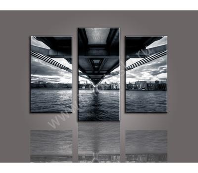 """Трехмодульная картина """"Под мостом"""", фото 3"""