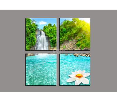 """Четырехмодульная картина """"Изумрудная вода"""", фото 3"""