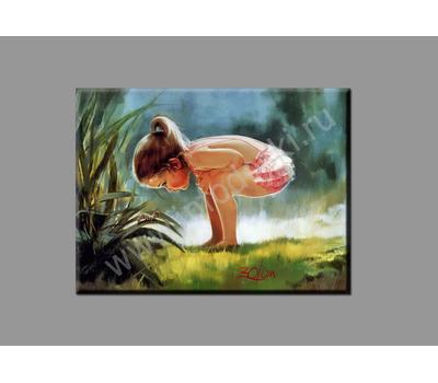 """Картина на подрамнике """"Девочка и гусеница"""", фото 2"""
