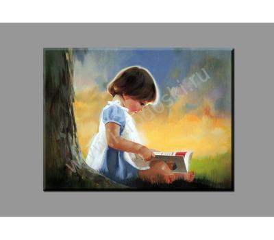 "Картина на подрамнике ""Девочка с книгой"", фото 2"