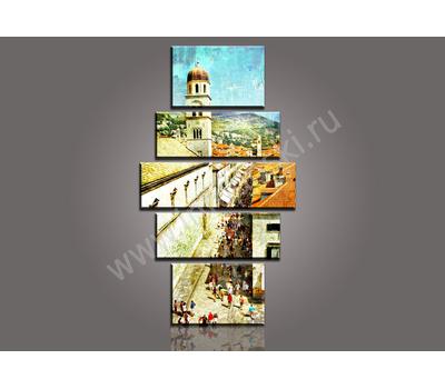 """Пятимодульная картина """"Оживленная улица"""", фото 2"""