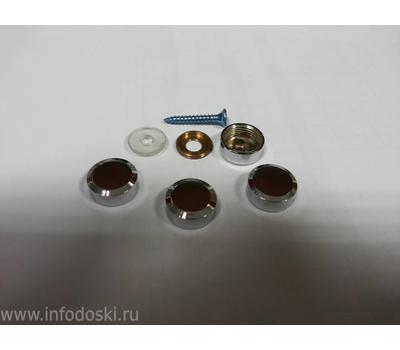 Декоративный колпачок AB06 16мм Polish (серебро) 1шт., фото 2