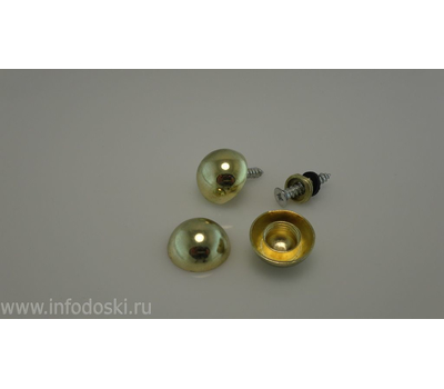 Декоративный колпачок AB02 20мм Gold (золото) 1шт., фото 2