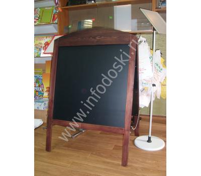 Меловой деревянный штендер с фигурной резкой (односторонний), фото 2