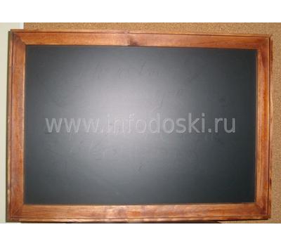 Меловая доска в деревянной раме 45*60см, фото 2