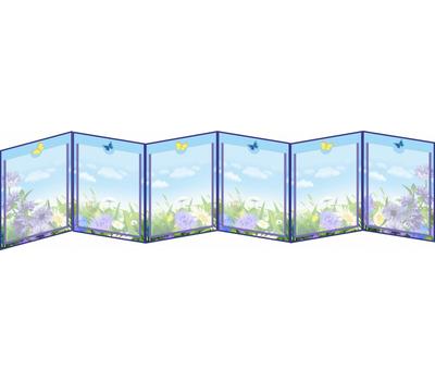 Универсальная папка-передвижка для детского сада ВАСИЛЬКИ, фото 1