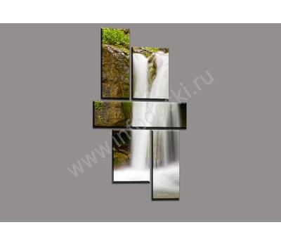 """Пятимодульная картина """"Горный водопад"""", фото 1"""