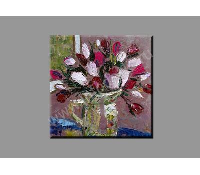 """Картина на подрамнике (печать на холсте) """"Тюльпаны"""", фото 1"""