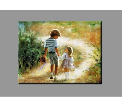 "Картина на подрамнике ""На прогулке"" (печать на холсте), фото 1"