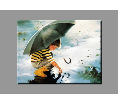 "Картина на подрамнике ""Отражение в луже"", фото 1"