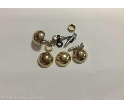 Декоративный колпачок AB02 20мм Gold (золото) 1шт., фото 1