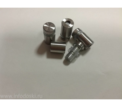 Держатель дистанционный YD-648 12*20мм Satin (сталь) 1шт., фото 1