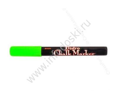 Меловой маркер MARVY 6мм, кругл. зеленый неон, фото 1