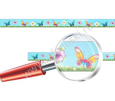 """Магнитная полоса для детских рисунков """"Бабочки"""", фото 1"""