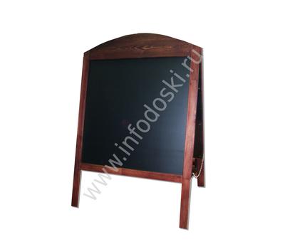 Меловой деревянный штендер с фигурной резкой (односторонний), фото 1