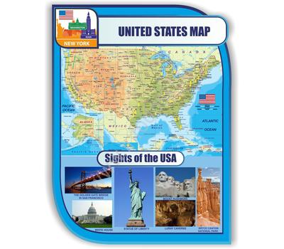 Стенд для кабинета иностранного языка (США), фото 1